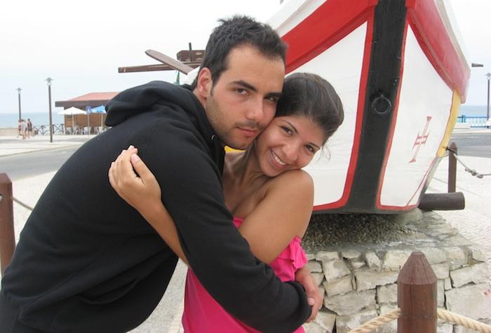Ana Maltez com o namorado, Rafael.