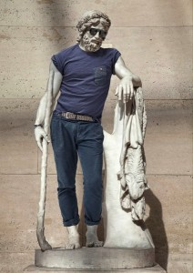 Hipster Statue